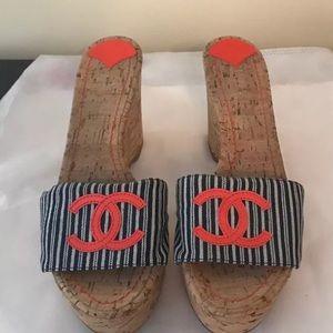 Channel cork wedge heel size 40